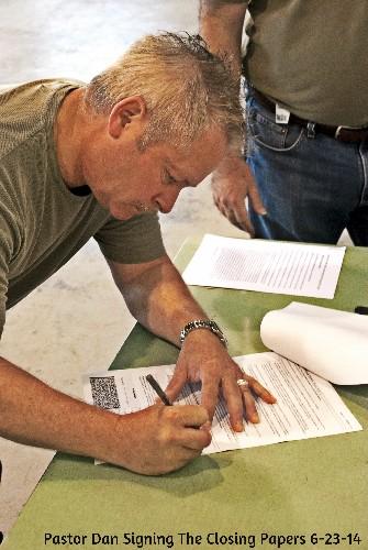 Pastor Dan Signing